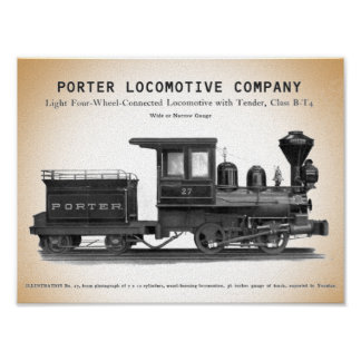 Poster Copie de la classe B-T4 de H K Porter Locomotive