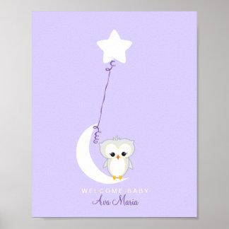 Poster Copie de livre d'invité de baby shower du petit