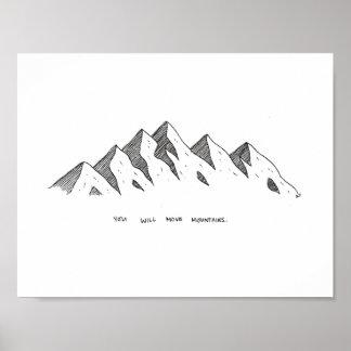 Poster Copie de montagne