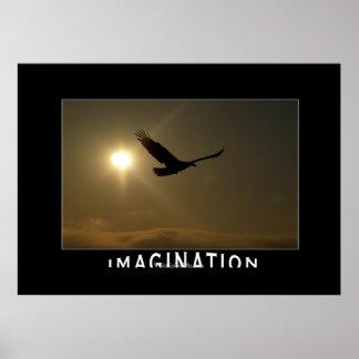 Poster Copie de motivation de photo d'IMAGINATION d'Eagle