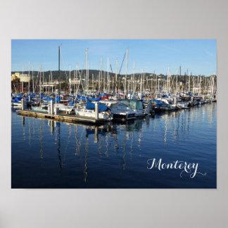 Poster Copie de photo de Monterey du quai du pêcheur