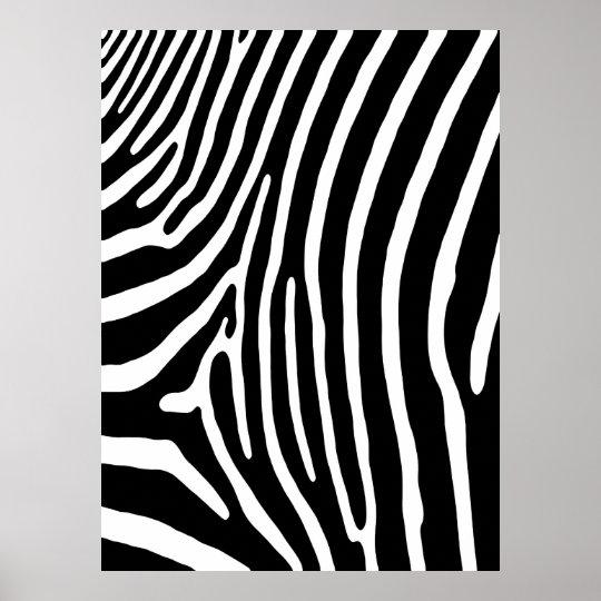 poster copie de rayure de z bre noir et blanc. Black Bedroom Furniture Sets. Home Design Ideas