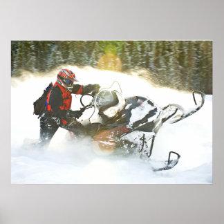 Poster Copie de Snowmobile de course folle