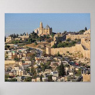 Poster Copie de toile de Jérusalem Israël