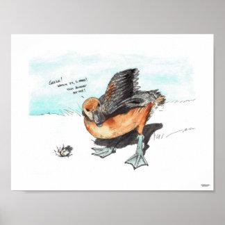 Poster Copie d'édition limitée de canard/canard