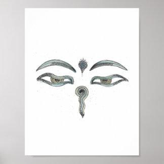 Poster Copie des yeux de Bouddha