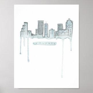 Poster Copie d'horizon d'Atlanta