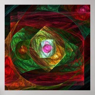 Poster Copie dynamique d'art abstrait de connexions
