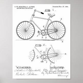 Poster Copie elliptique de brevet de conception de