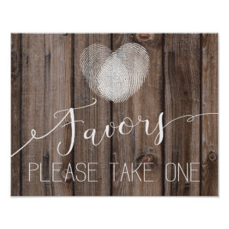 Poster copie en bois rustique de Guestbook de signe de