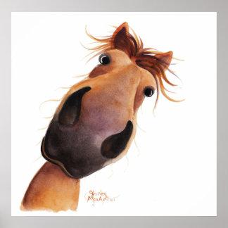 """Poster Copie heureuse d'affiche du cheval """"max FOU"""""""