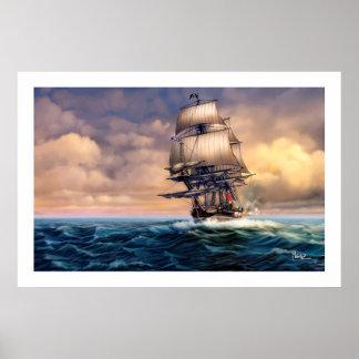 Poster Copie historique d'art de peinture de bateau de