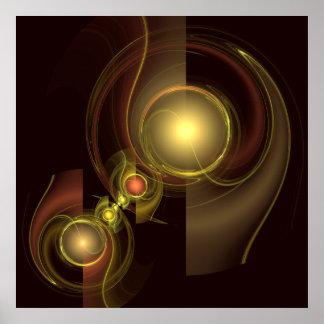 Poster Copie intime d'art abstrait de connexion