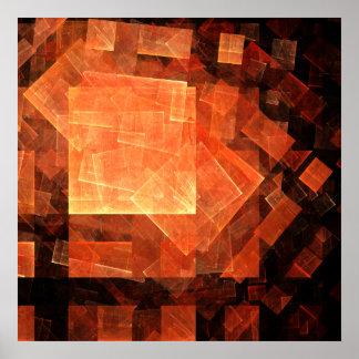 Poster Copie légère d'art abstrait de fenêtre