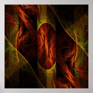 Poster Copie mystique d'art abstrait de jungle
