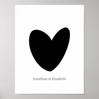 Poster Copie personnalisée de coeur d'amour