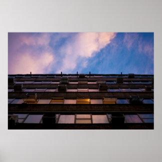 Poster Copie urbaine de ciel et de photographie de