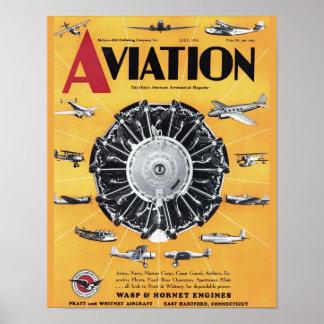 Poster Copie vintage d'art de couverture d'avion de