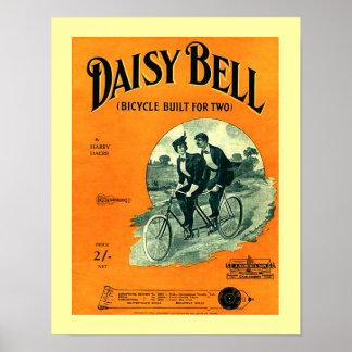 Poster Copie vintage de couverture de Bell de marguerite