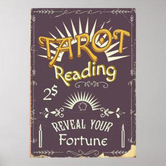 Poster Copie vintage de lecteur de tarot