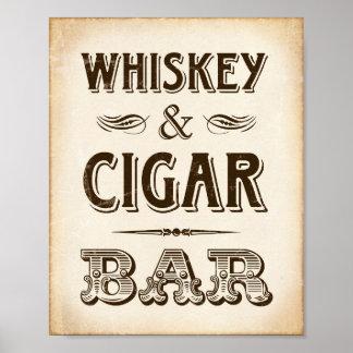 Poster Copie vintage de signe de BARRE de WHISKEY et de