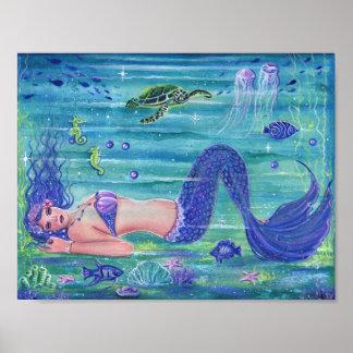 Poster Copie violette Renee Lavoie d'affiche de sirène
