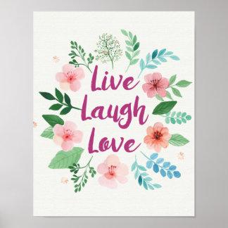 Poster Copie vivante de toile d'amour de rire