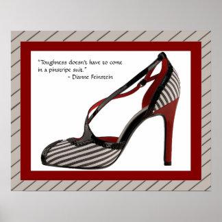 Poster Copie w/quote de chaussure de filet