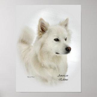 Poster Copies américaines d'art de chien esquimau