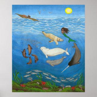 Poster Copies de peinture de mythe d'Inuit