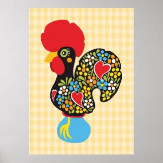 Poster Coq célèbre de Barcelos Nr 06