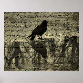Poster Corneille et papiers de Poe
