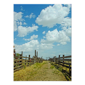Poster Corral HDR de ranch