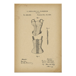 Poster Corset de 1879 brevets