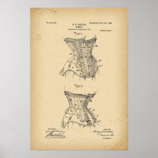 Poster Corset de 1908 brevets