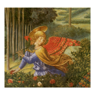 Poster Cortège des Magi, art d'ange de la Renaissance