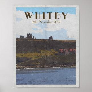 Poster Côte Est Yorkshire whitby d'affiche de voyage