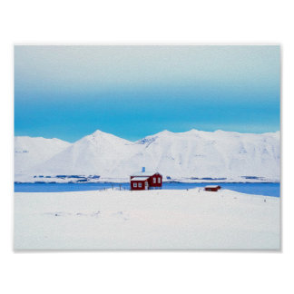 Poster Cottage de l'Islande