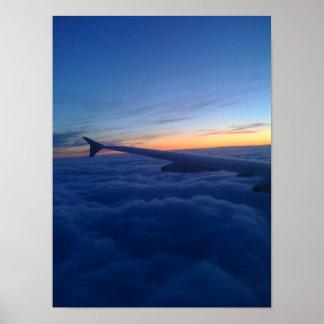 Poster Coucher du soleil à 30.000 pieds