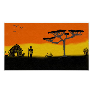 Poster Coucher du soleil africain