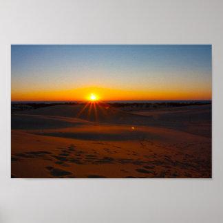 Poster Coucher du soleil au parc d'état argenté de lac,