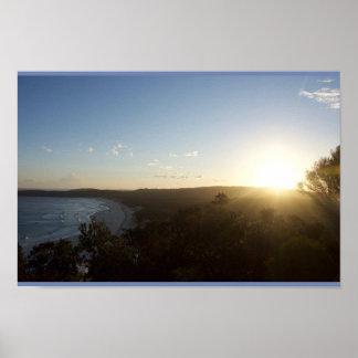 Poster Coucher du soleil de l'Australie
