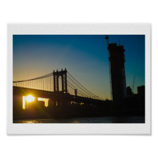 posters affiches pont brooklyn personnalis s. Black Bedroom Furniture Sets. Home Design Ideas