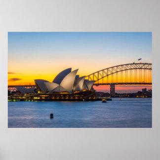 Poster Coucher du soleil de Sydney