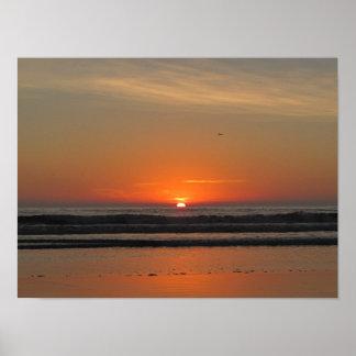 Poster Coucher du soleil d'océan