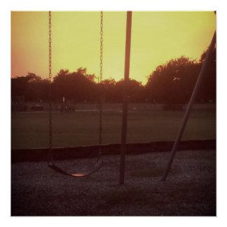 Poster Coucher du soleil par le Swingset