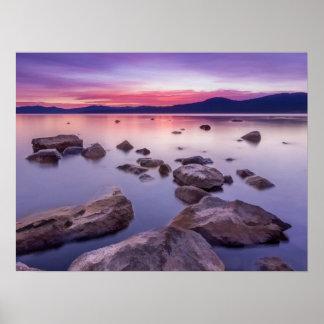 Poster Coucher du soleil sur le lac Tahoe