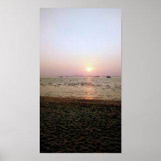 Poster Coucher du soleil thaïlandais