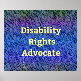 Poster Couches multicolores d'avocat de droites