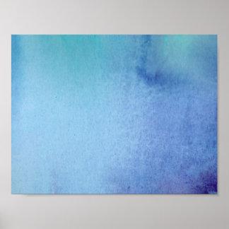 Poster Couleur pour aquarelle de marbre bleu-foncé